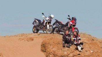 "Dakar: ""Riding Marocco: Chasing the Dakar"": Honda supplies Africa Twins"