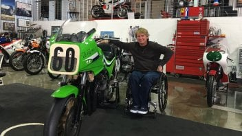 A blast from the past: even the Rainey's bike at Laguna Seca