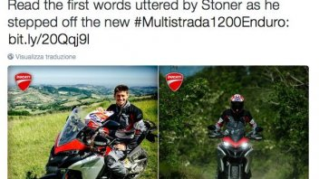 Casey Stoner tested the Ducati Multistrada 1200 Enduro