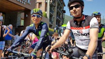 Jorge Lorenzo ciclista per un giorno