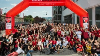 """Ducati Globetrotter 90°"" departs from Borgo Panigale"