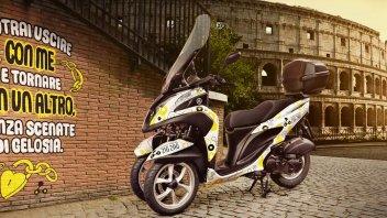 Fai Zig Zag per Roma con lo scooter Yamaha Tricity