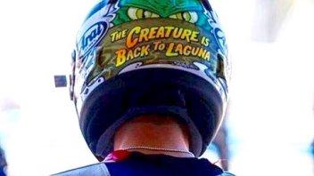 Il casco di Hayden: è lui il 'mostro della laguna'