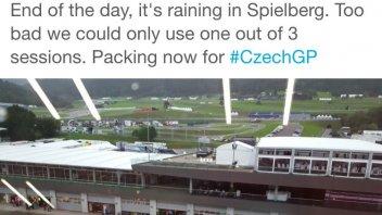 La pioggia ha interrotto i test al Red Bull Ring