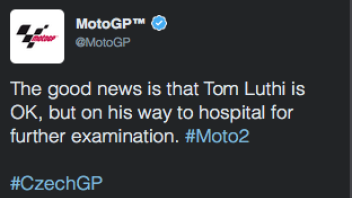 Luthi is OK, in hospital for futher examination