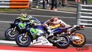 Marquez, Lorenzo and Rossi chasing Ayrton Senna
