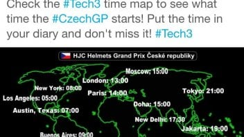 Tech3 Czechgp MotoGP starts time map