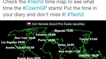 Tech3 Czechgp MotoGP starts time map