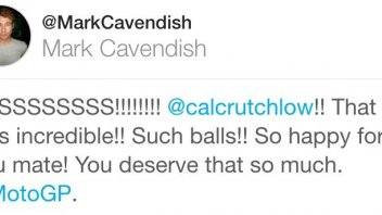 "Mark Cavendish pays homage Crutchlow: ""such balls!"""