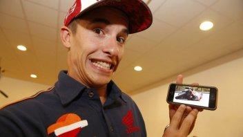 Marquez: Sono quasi caduto, ma io la moto non la mollo mai