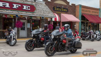 The Moto Guzzi MGX-21 bursts into the Sturgis temple