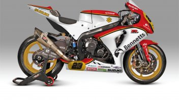 Il team Bennets Suzuki omaggia Barry Sheene