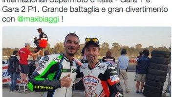 Giugliano and Biaggi beat the field in the Supermoto
