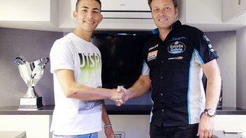 Bastianini con il team di Alzamora nel 2017