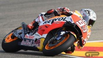 Marquez e Pedrosa provano il motore 2017 ad Aragon