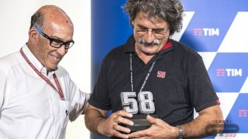 Marco Simoncelli's number 58 retired