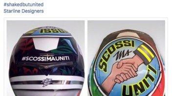 A Misano Petrucci dedica il casco ai terremotati