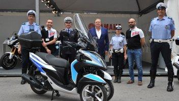 Yamaha Tricity alla polizia di Riccione