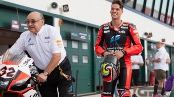 Milwaukee and Aprilia together from 2017 with Laverty and Savadori