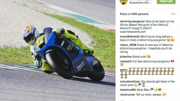 Domique Aegerter back on the Suter machine at Mugello
