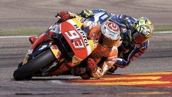 Marquez vs Rossi: sfida all'ultimo punto