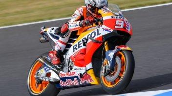 Motegi: libere nel segno di Marquez, caduta per Lorenzo