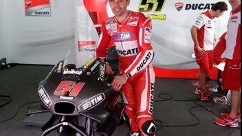 Pirro già in pista a Valencia con la Ducati GP17