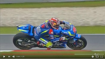 Team Suzuki in action in Sepang, Malaysia