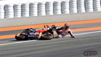 PHOTO. Marquez's crash at Valencia