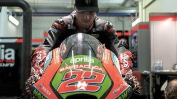 THE PHOTO. Sam Lowes already on the Aprilia MotoGP bike