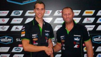 Jezek con Grillini in Superbike nel 2017