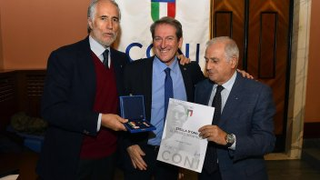 Giovanni Copioli insignito della Stella d'Oro dal CONI