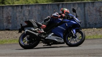 Vinales rides the Yamaha R15 in Sentul track