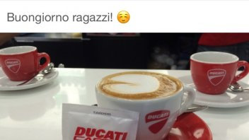 Lorenzo toast 2017 with a Ducati coffee