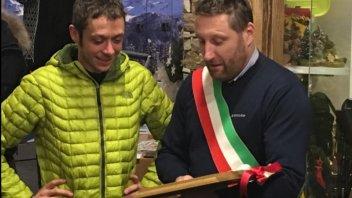 Valentino Rossi cittadino onorario di Pinzolo...con sbandata
