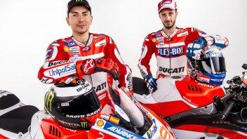TUTTE LE FOTO. Lorenzo, Dovizioso e la Ducati 2017