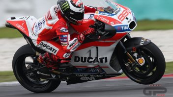 Lorenzo what a nasty surprise, I'll have to change for Ducati