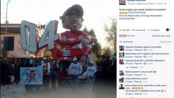 MotoGP: Dovizioso becomes a carnival float