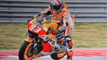 MotoGP: Marc Marquez becomes a work of art