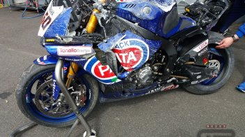 SBK: van der Mark, what a crash! Destroys the Yamaha
