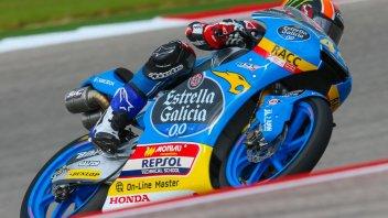 Moto3: Canet si prende la pole ad Austin, 3° Fenati