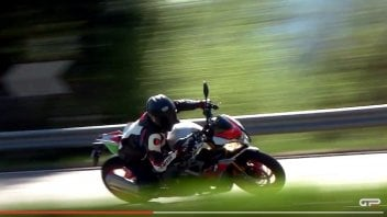 Test: Aprilia Tuono V4 1100: il video test sulla naked dall'animo racing