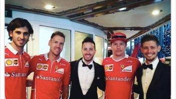 MotoGP: Dovizioso e Stoner al galà di Montecarlo con i piloti Ferrari