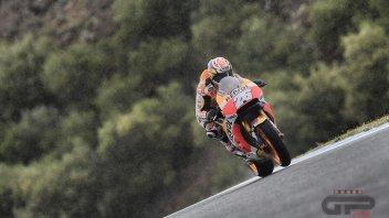 MotoGP: Pedrosa anfibio a Jerez, guida la carica Honda, 16° Rossi
