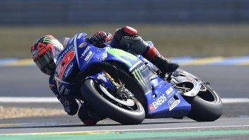 MotoGP: Vinales sul trono di Le Mans, Rossi e Marquez a terra