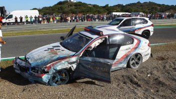 MotoGP: Franco Uncini: accident with the Safety Car at Jerez