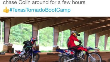 MotoGP: Casey Stoner with Colin Edwards at Texas Tornado Boot Camp