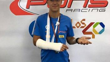 Moto2: Frattura al polso per Fabio Quartararo