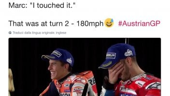 MotoGP: Marquez: Dovi I touched your tyre a 180 mph!