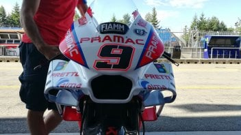 MotoGP: Petrucci using the new fairing, in the 'triplane' version